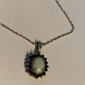 """.925 Sterling Silver 19"""" Necklace and Pendant"""
